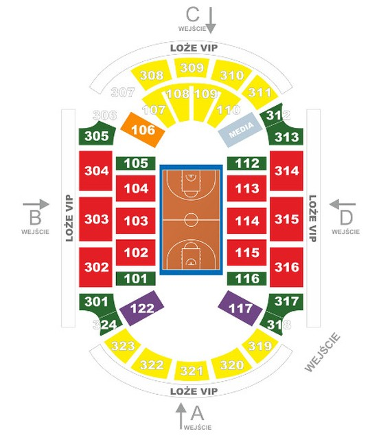 sektory Ergo Arena